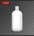 cosmetic or hygiene grayscale lid plastic bottle vector image