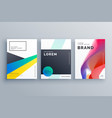 creative business branding design with three vector image