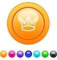 Crown circle button vector image vector image