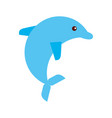 cute dolphin isolated icon vector image vector image