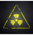 danger sign of radioactivity vector image