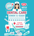 dental clinic discount offer promotion poster vector image vector image