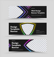 design horizontal black web banners with place vector image vector image