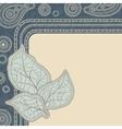 Design of decorative leaves Vintage background vector image