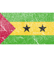 Flag of Sao Tome and Principe with old texture vector image vector image