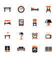 furniture icon set vector image vector image