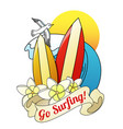 go surfing vector image vector image