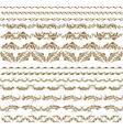 horizontal elements decoration vector image vector image