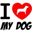 I love my dog heart vector image vector image