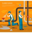 Inspection Of Pipeline Composition vector image vector image