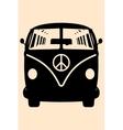 Minivan Hippie vector image vector image