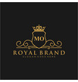 mo letter initial luxurious brand logo template vector image vector image
