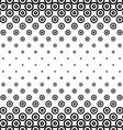 Monochrome horizontal repeating circle pattern vector image vector image