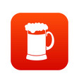 mug of dark beer icon digital red vector image
