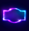 night club neon sign blank retro light signboard vector image vector image