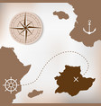 old treasure paper map with islands vector image vector image