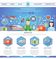 Paramedic One Page Template vector image vector image