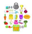physical examination icons set cartoon style vector image
