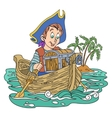 Pirate and treasure vector image vector image