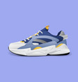 realistic sport running shoe for training and vector image vector image