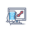 responsive design - modern line design icon vector image vector image