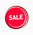 Sale sticker red color - round tag isolated