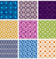 Seamless geometric patterns 2 vector image vector image