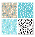 seamless patterns of raindrops vector image vector image