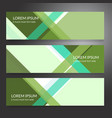 set of horizon abstract banner background vector image vector image
