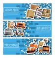 Set of Horizontal Banners about logistics vector image vector image