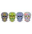 set sugar skulls vector image vector image