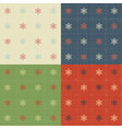 snowflakes patterns set vector image vector image