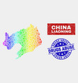 spectrum tools liaoning province map and scratched vector image vector image