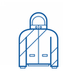 Sport Jacket Outline Icon vector image