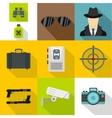 Spy icons set flat style vector image