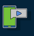 sticker video buffering streaming on phone icon vector image