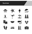 summer icons design for presentation graphic vector image