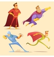 Superhero Cartoon Set vector image vector image