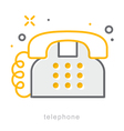 Thin line icons Telephone vector image