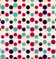 vintage circle seamless pattern vector image
