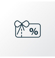 voucher icon line symbol premium quality isolated vector image