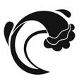 wave sea icon simple black style vector image vector image