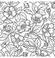 wild rose flowers seamless pattern vector image