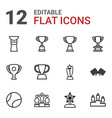 12 championship icons vector image vector image