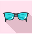 accounting glasses icon flat style vector image vector image