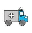 ambulance vehicle transport urgency help accident vector image vector image