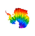 antarctica continent - map is designed rainbow vector image vector image