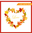 Autumn Shabby Chic Graphic Design vector image vector image