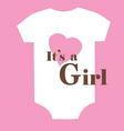 baby clothes girl vector image