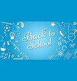 back to school concept banner poster vector image vector image